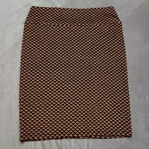 Excellent Lularoe Elegant Copper Diamond Cassie